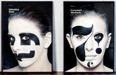 Design Studio Puts the Face in Typeface - DesignTAXI.com #helvetica #typeface