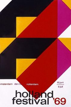 Holland Festival '69 - Dick Elfers #graphic design #poster #dutch