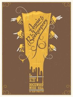 Annie & the Beekeepers #screen print #gig poster #illustration