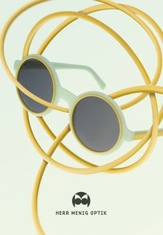 Ad illustration for Herr Menig Optik, an optician in Nürnberg Germany - www.philippzm.com #ad #illustration #glasses #optician