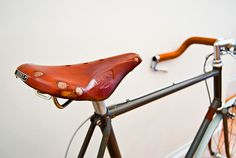 Bianchi Convert Boutique Cycles #brooks #bike #saddle