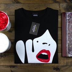 Droplet Face T-shirt #pop #print #tshirt #screen #art #surreal #face