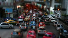 Tilt Shift Street Traffic #inspiration #photography #shift #tilt