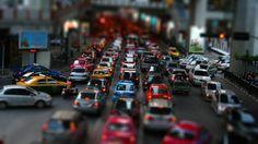 Tilt Shift Street Traffic