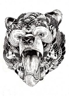 Tumblr #bear #tattoo #ilustracion