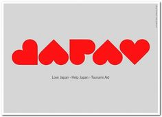 Creative Review - Love Japan - Help Japan poster #heart #japan #love
