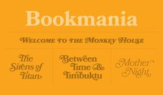 Bookmania Specimen #fonts #bookmania #typography