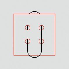 //// #loop #geometry #red #lines #abstraction #black #illustration #type