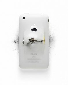 Apple Destroyed Products | Fubiz™ #destroyed #apple