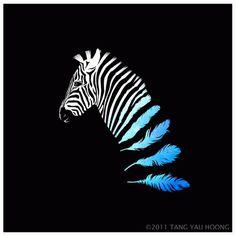 Illusion & Surrealism on the Behance Network #design #zebra #art