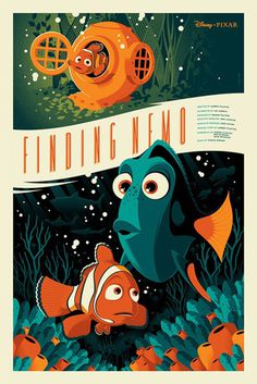 Reinvented Disney posters by Mondo-Finding Nemo #illustrator #poster
