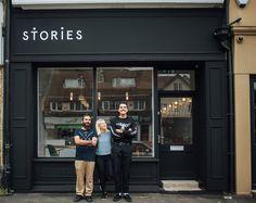 Brand identity for café 'Stories' restaurant bar cafe subtle minimal branding corporate graphic design visual identity coffee eat food prin