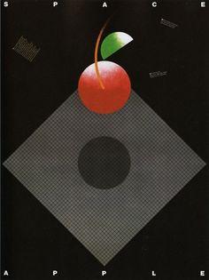 AIGA Design Archives #apple #promotional #san #space #poster #80s #francisco #vanderbyl