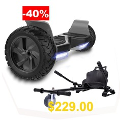 Self #Balancing #Scooter #8.5 #inch #All #Terrain #With #Hoverkart #Powerful #Motor #Bluetooth #APP