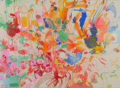 SUE WILLIAMS, The Plesiosaurus Couple, 2014 #color #floral #painting