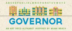 Governor : Free Art Deco Font