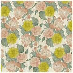coqueterías #pink #pattern #floral #lime