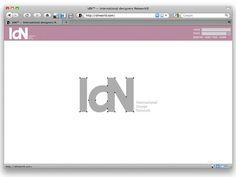 IdN website prototype on Behance #tyt