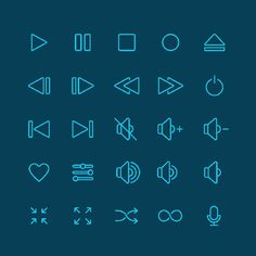 25 Free Music Icon Set for UI Designer (AI, PSD and Sketch)
