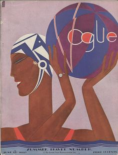 [object HTMLImageElement] #vogue #1927 #illustration #vintage #swimming #suit