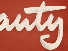 Jeremy Pruitt (thinkmule) on Pinterest #lettering #shadow #signage #type #dimensional