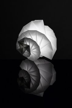"Award Winning ""IN EI ISSEY MIYAKE"" Lamps Made from Ecological Paper by Teijin in Stores #fashion #miyake #issey"