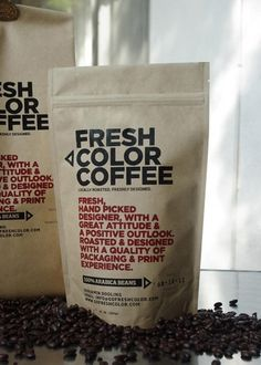 Self Promotion: Fresh Color Coffee ScreenPrinted - TheDieline.com - Package Design Blog