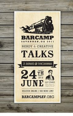 Barcamp Savannah Poster by Focus Lab, LLC #poster #barcamp #branding #typography