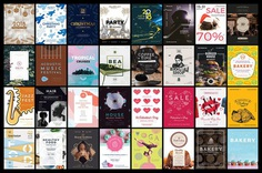 130 in 1 Poster & Flyer Design Templates Bundle on Behance