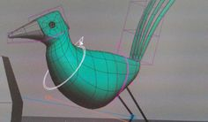 Capture from my short film early birds while animating. #rig #softimage #3d #bird