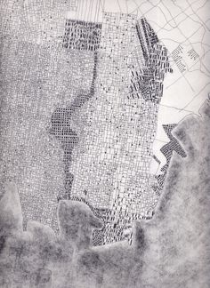 La città frattale, 2012 #urbanism #drawings #architecture #plans