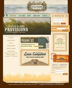 Bamboo Provisions #layout #interactive #vintage #texture