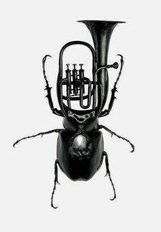 paris texas beetle merged with tuba