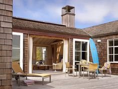 Traditional beach house in Northern California