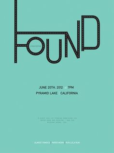 Isabelle Nicole Ahadzadeh - NOOE Graphic Design Exhibition #movie #found #seafoam #poster
