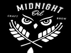 Dribbble - Midnight Oil by David M. Smith #beer #owl #midnight #brew #logo #oil