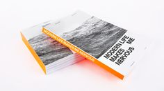 Modern Life Makes Me Nervous Cover #binding #silkscreen #fluorescent #orange #minimalist #neon