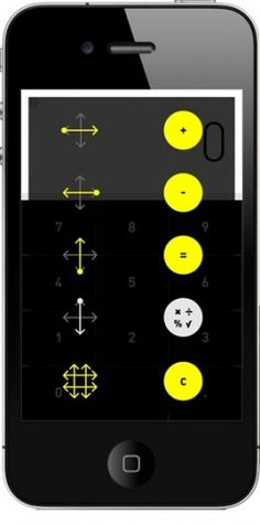 It's Nice That : Maths gets a reboot thanks to Berger and Föhr's gesture-based calculator #calculator #app #maths