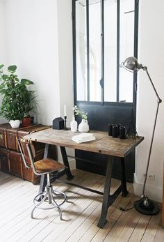 #interior #workspace #wood #desk