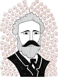 Jules Verne #drawing #illustration #julesverne #portrait #writer #author