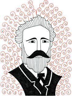 Jules Verne #drawing #illustration #julesverne #portrait #writer #author