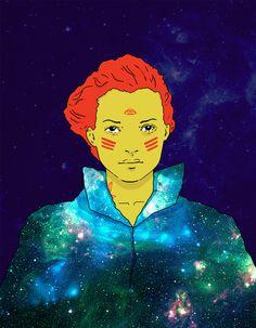 Franco Giovanella Portfolio - Ilustração #universe #woman #color #space #illustration #cosmos #outer