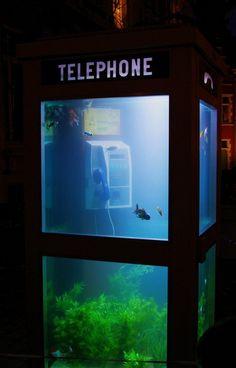 Aquarium creative phone booth