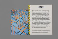 Enea by Clase bcn #graphic design #print #editorial