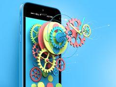 The Experimental Clock. Part II. #colourful #ios7 #5c #iphone #3d