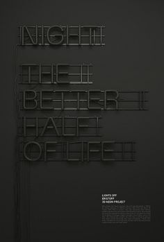 3D Neon / Lights Off on the Behance Network