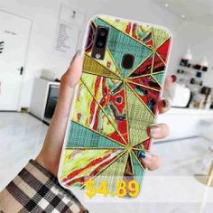 TPU #Geometric #Marble #Painted #Phone #Case #for #Samsung #Galaxy # #A20E #- #MULTI-B