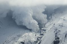Gigjökull steam | Flickr - Photo Sharing! #ice #white