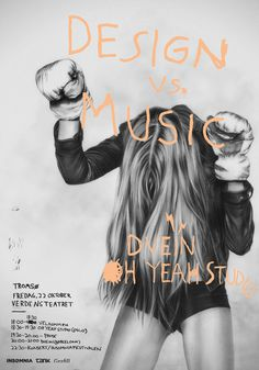 Design vs. Music on the Behance Network #graphite #drawing #hand #charcoal #illustration #drawn #pencil