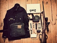 The Burning House #rifle #house #camera #burning #wood #denim